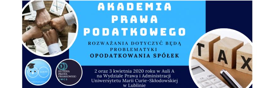 Akademia Prawa Podatkowego 2020