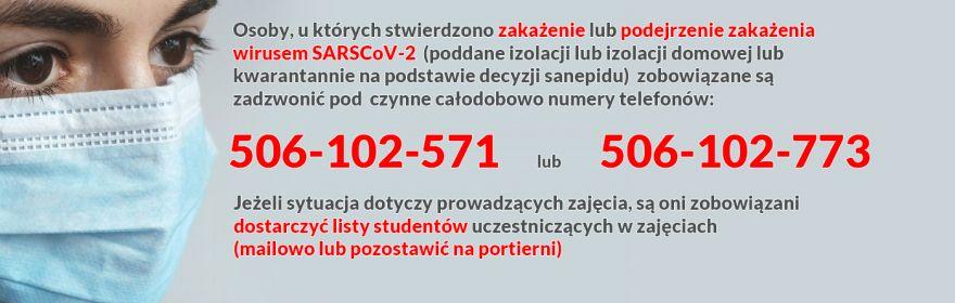 Zakażenie lub podejrzenie zakażenia  wirusem SARSCoV-2 ?