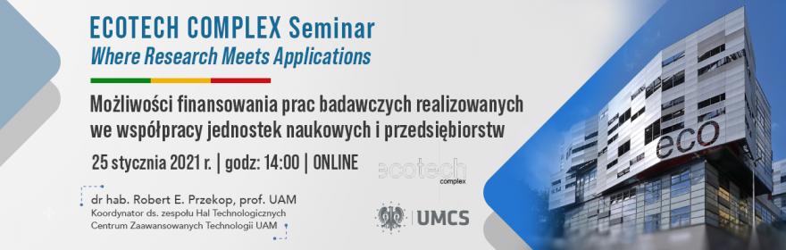 ECOTECH-COMPLEX Seminar Where Research Meets Applications