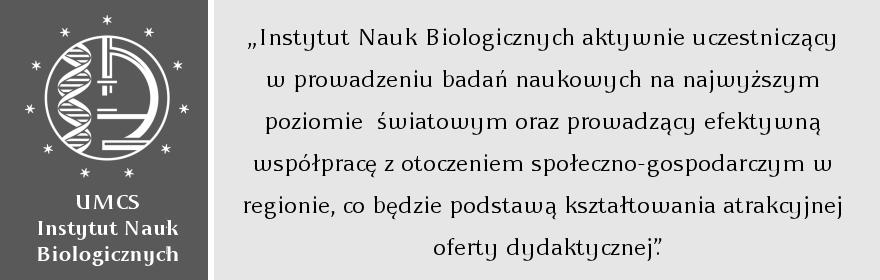 Wizja Instytutu Nauk Biologicznych