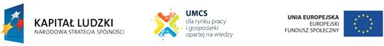 Logo projektu UMCS dla rynku pracy oraz UE i Narodowej Strategii Spójności - Kapitał Ludzki