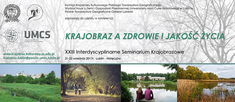Baner konferencji Krajobraz a zdrowie i jakość życia