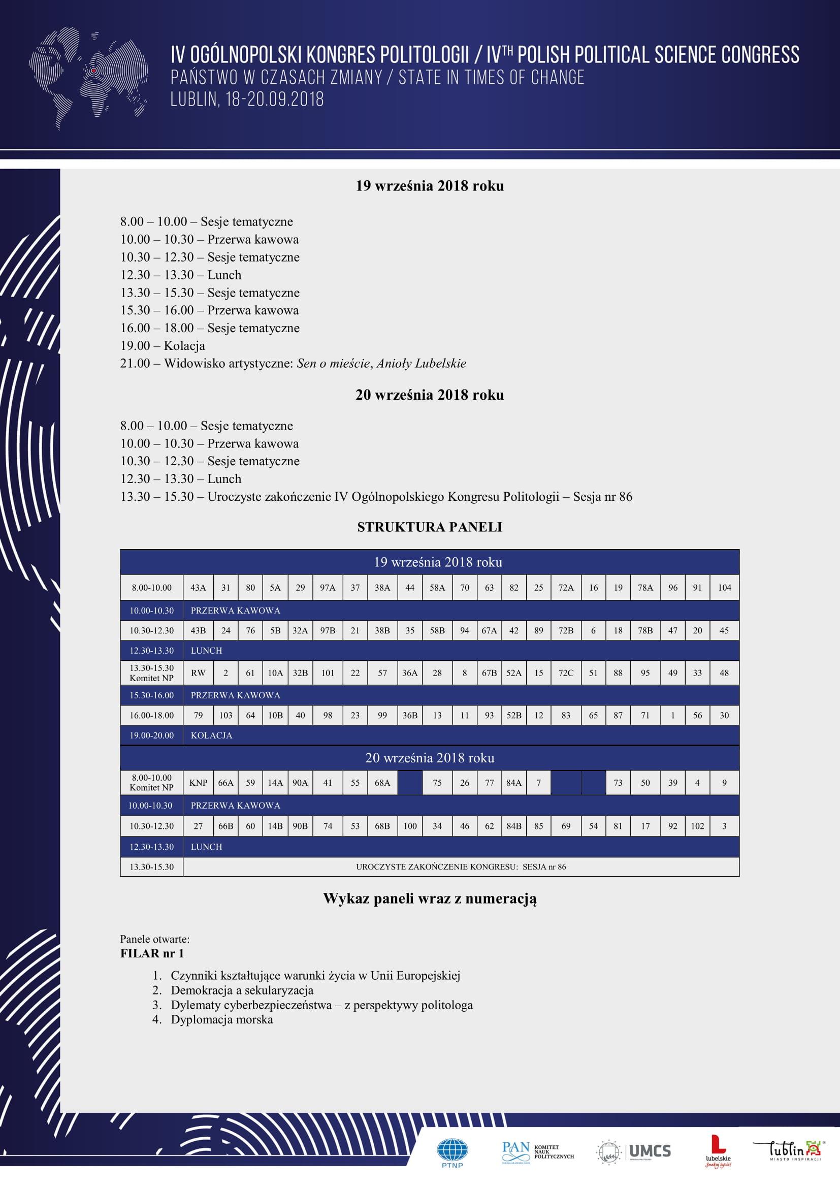 Program ramowy IV Ogólnopolskiego Kongresu Politologii - Państwo w  czasach zmiany-2.jpg