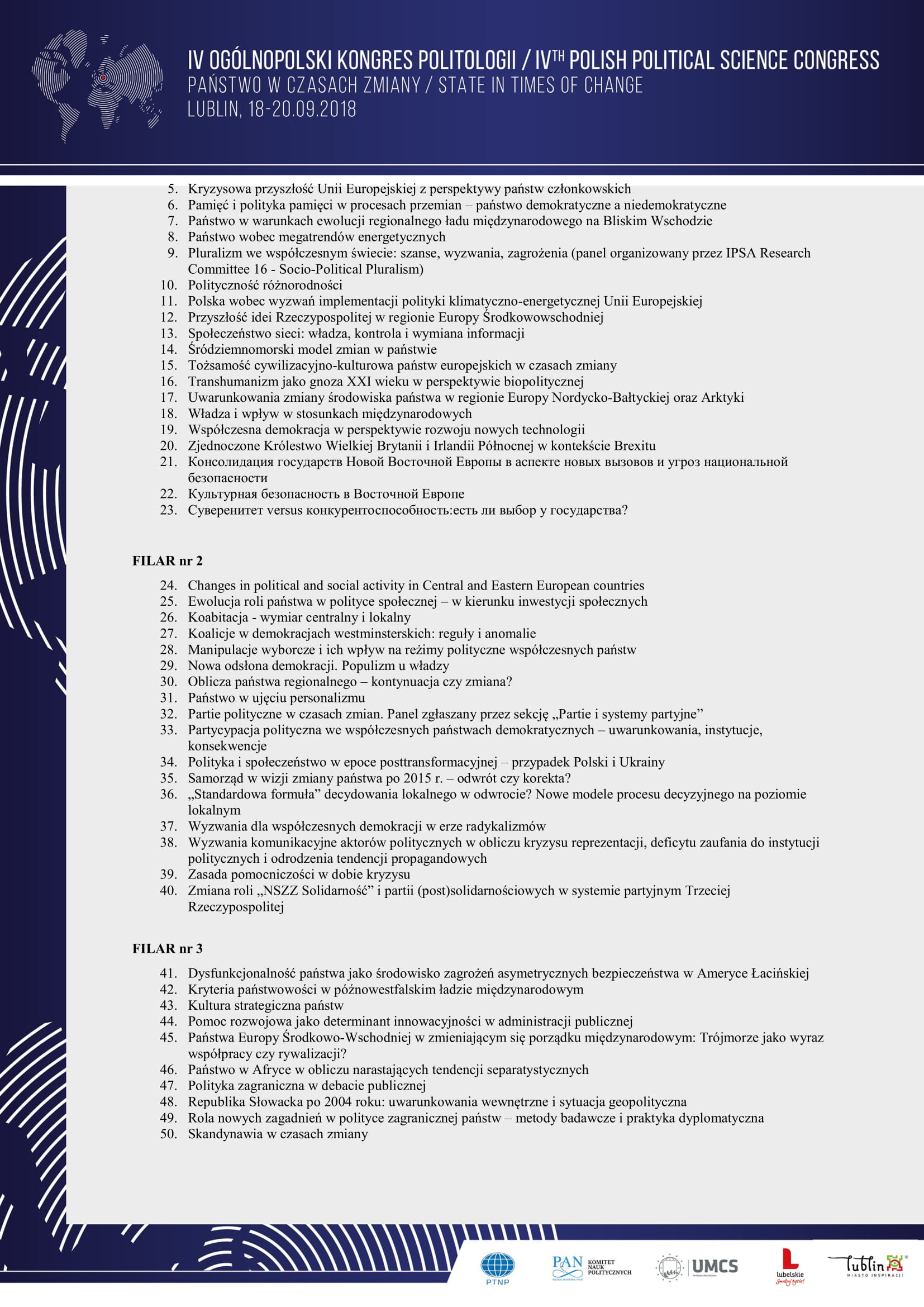 Program ramowy IV Ogólnopolskiego Kongresu Politologii - Państwo w  czasach zmiany-3.jpg