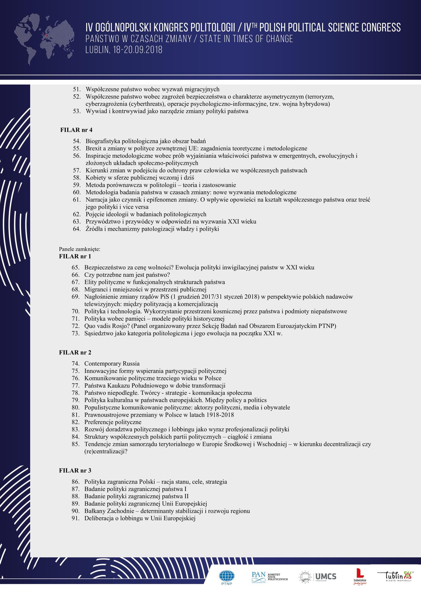 Program ramowy IV Ogólnopolskiego Kongresu Politologii - Państwo w  czasach zmiany-4.jpg
