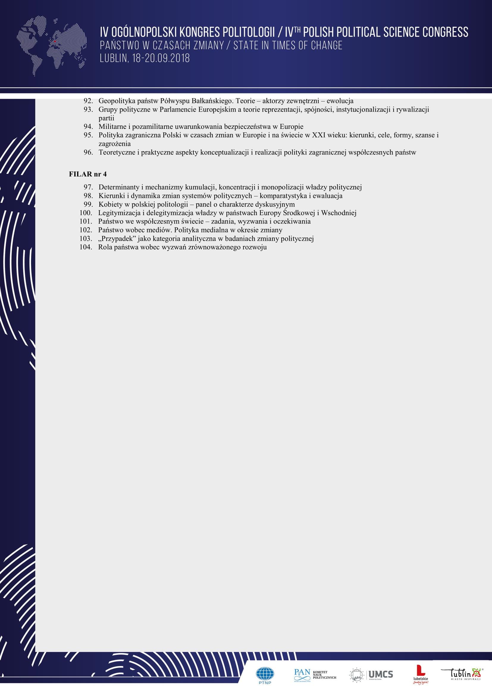 Program ramowy IV Ogólnopolskiego Kongresu Politologii - Państwo w  czasach zmiany-5.jpg