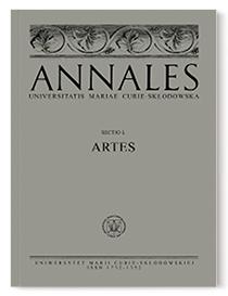Annales Universitatis Mariae Curie-Sklodowska, sectio L – Artes