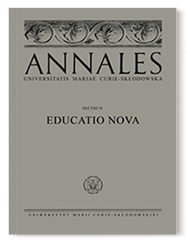 Annales Universitatis Mariae Curie-Sklodowska, sectio N – Educatio Nova