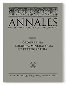 Annales Universitatis Mariae Curie-Sklodowska, sectio B – Geographia, Geologia, Mineralogia et Petrographia