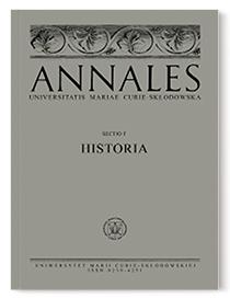 Annales Universitatis Mariae Curie-Skłodowska, sectio F – Historia