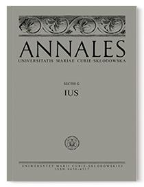 Annales Universitatis Mariae Curie-Skłodowska, sectio G Ius