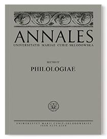 Annales Universitatis Mariae Curie-Skłodowska, sectio FF – Philologiae