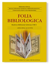 Folia Bibliologica