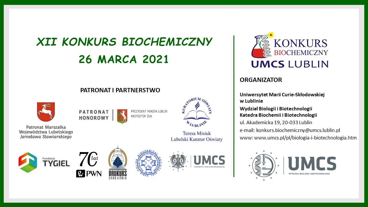 Plakat Konkurs Biochemiczny 2021