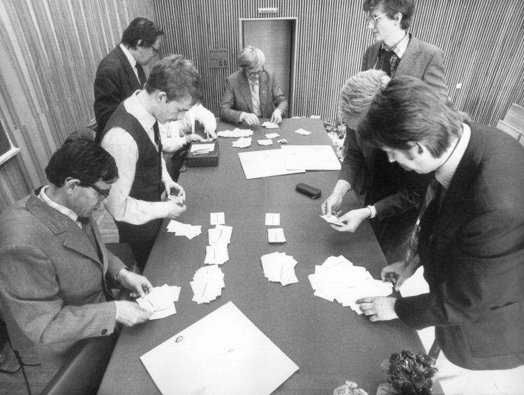 prace komisji skrutacyjnej