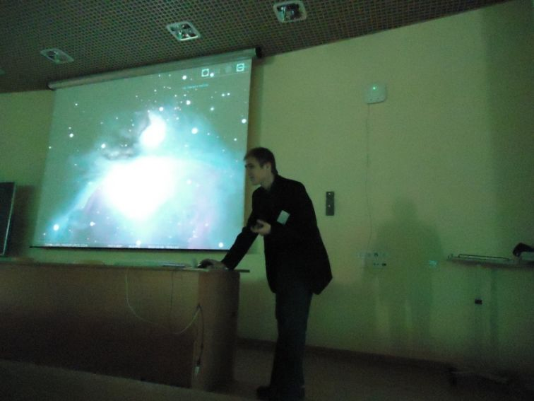 """Łukasz Tkaczyk, pokaz """"Wirtualne obserwacje nieba"""""""