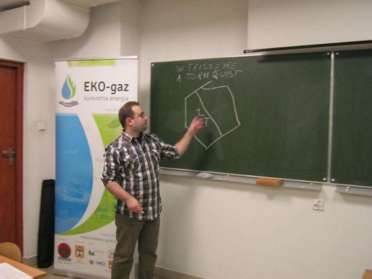 """Jarosław Szuwarski, warsztaty """"EKO-gaz – Konkretna Energia"""""""