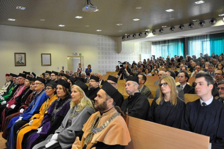 Uroczystość nadania doktoratu honoris causa prof. Jeanowi...