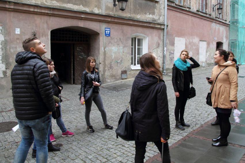 """Studenci WFiS na """"Spacerze po Lublinie"""""""