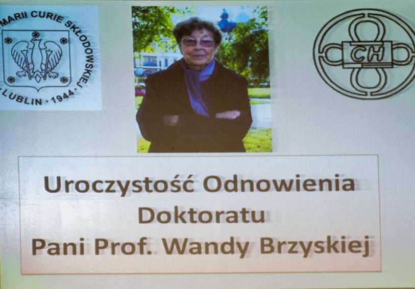 Odnowienie doktoratu Prof. Wandy Brzyskiej
