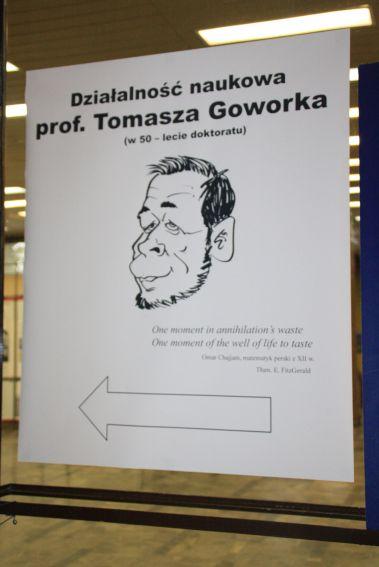 """Otwarcie wystawy """"Działalność naukowa Profesora..."""