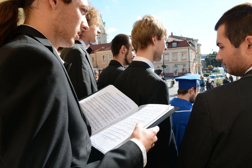 Flash mob w wykonaniu lubelskich Chórów Akademickich