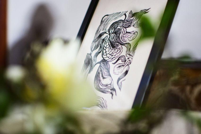 Czarny Kwiat - wystawa grafik Marty Bożyk