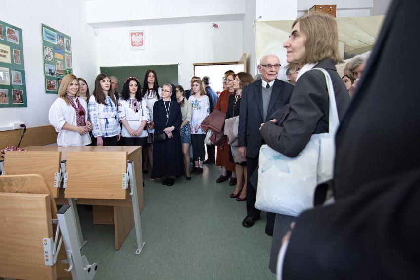 Odsłonięcie tablicy pamiątkowej Prof. Michała Łesiowa