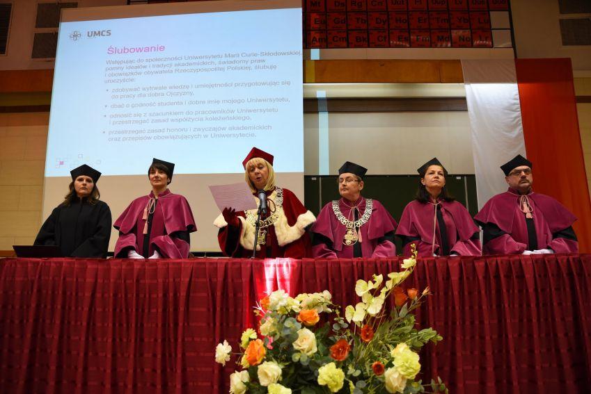 Immatrykulacje na UMCS