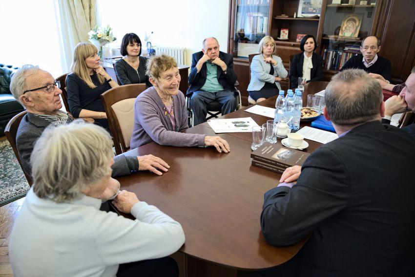 Wizyta wnuków Marii Curie-Skłodowskiej - wybór zdjęć