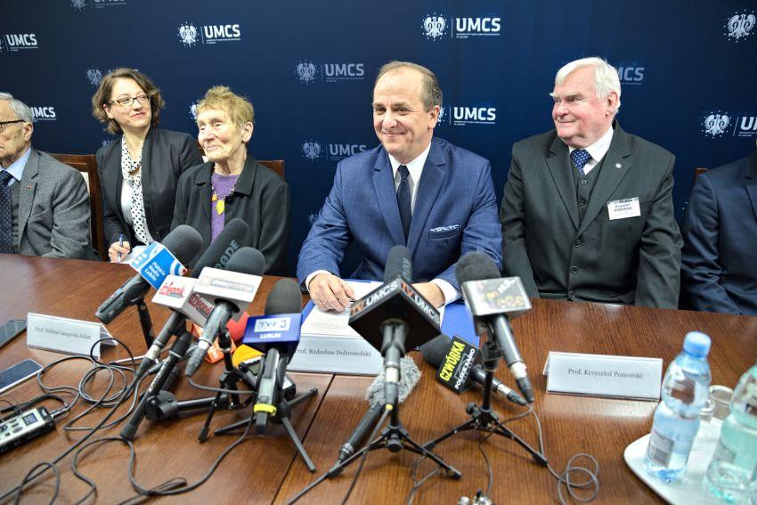 Konferencja prasowa z udziałem wnuków Patronki UMCS