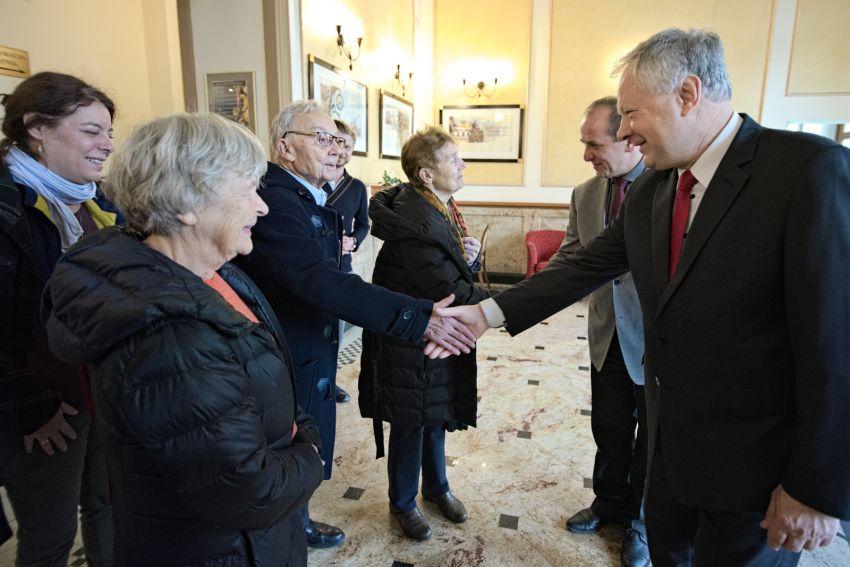 Pożegnanie delegacji z Francji przez władze UMCS