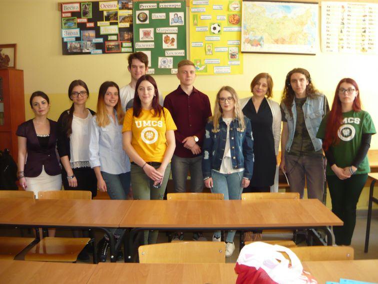 Warsztaty językowe w szkole patronackiej UMCS - I LO w...