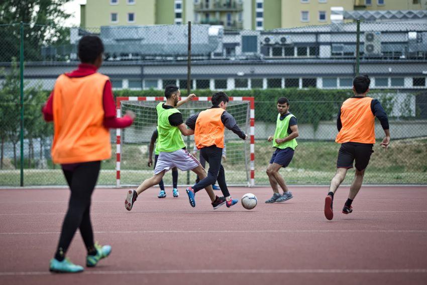 International Student Football Tournament on UMCS campus