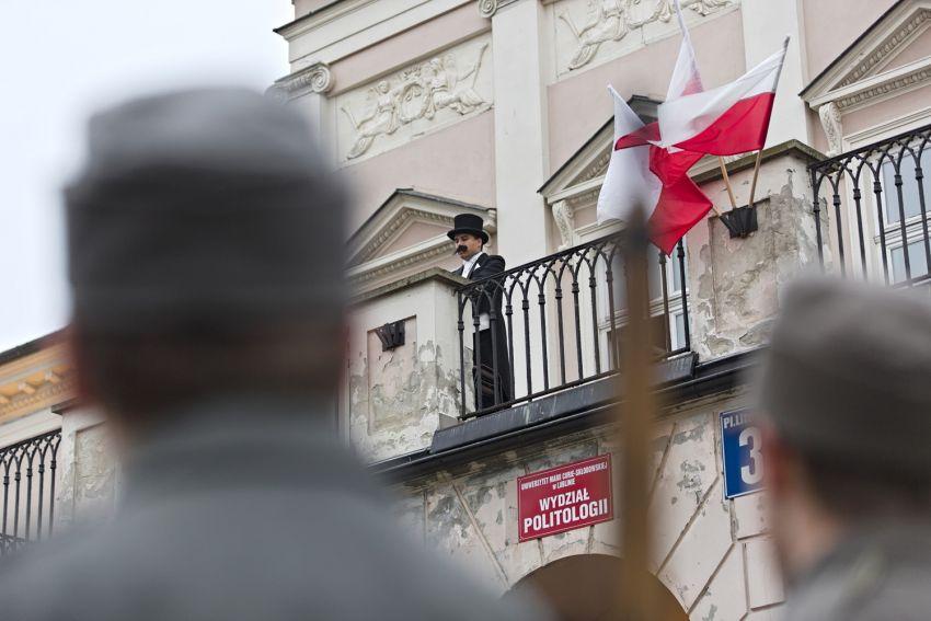 Inscenizacja przemówienia I. Daszyńskiego - Wydział...