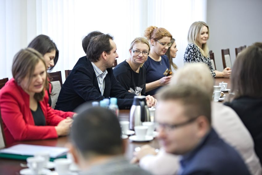 Spotkanie z komitetem organizacyjnym Forum Młodych Naukowców