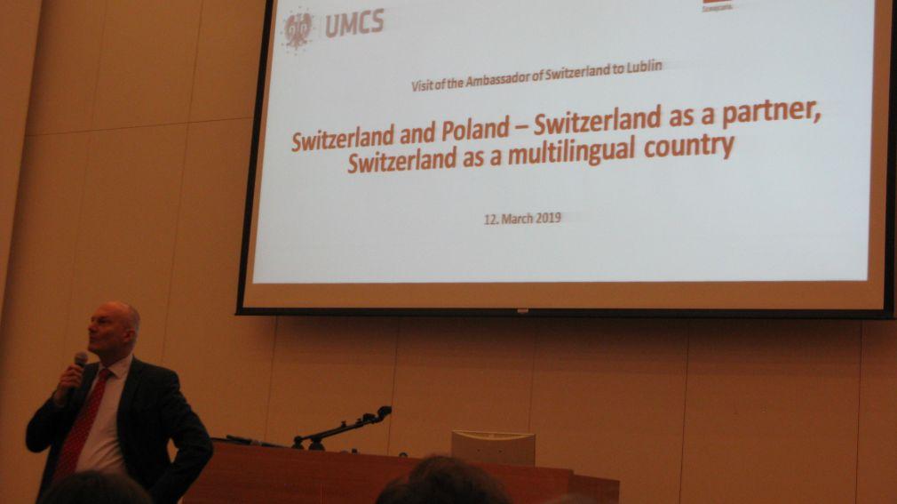 Wizyta ambasadora Szwajcarii (12.03.2019)