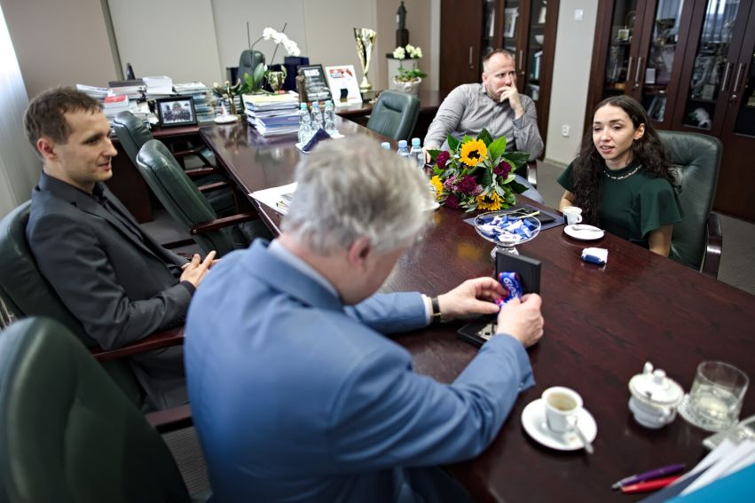 Spotkanie JM Rektora z Sofią Ennaoui