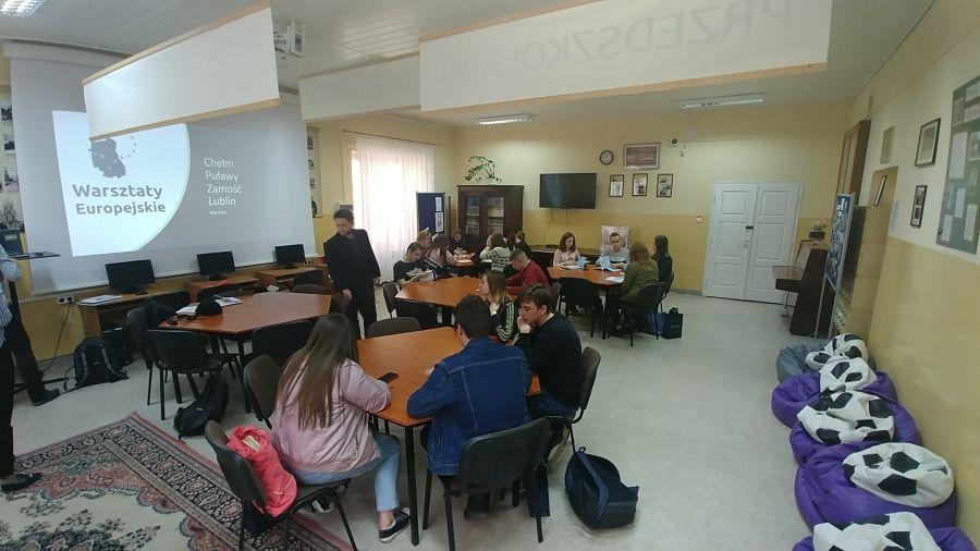 Warsztaty europejskie - fotorelacja z IV LO w Chełmie