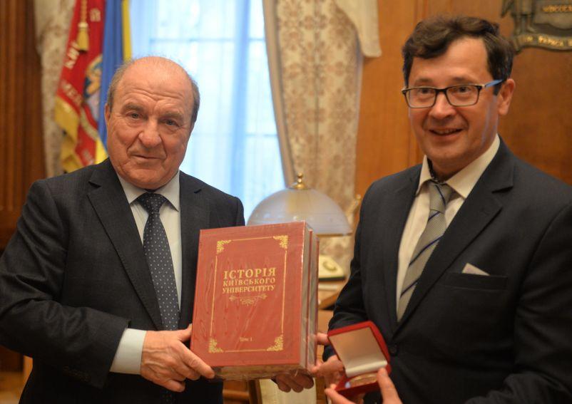 Uroczystości jubileuszowe  na Kijowskim Uniwersytecie...