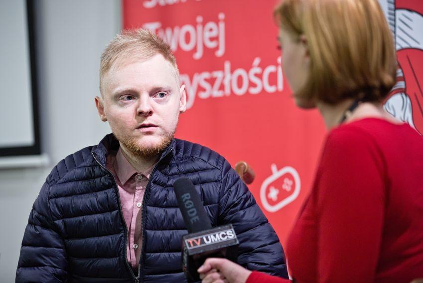 Spotkanie z Łukaszem Krasoniem- cykl Meet_up UMCSxSantander
