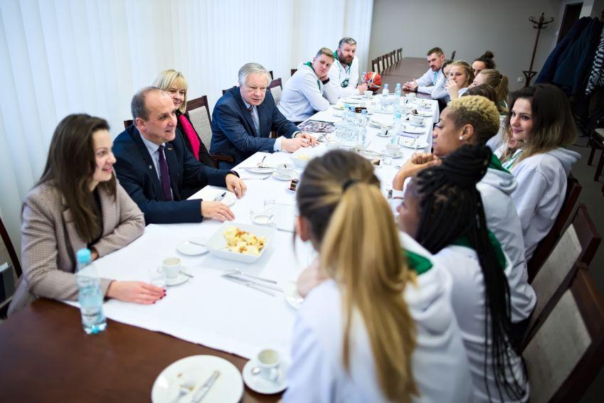 Spotkanie z drużyną Pszczółka Polski Cukier AZS UMCS Lublin