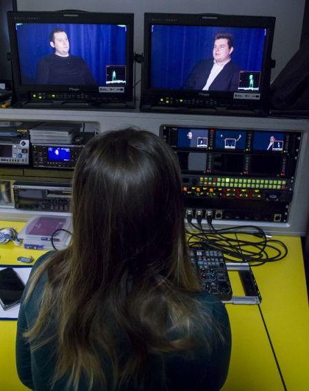 Przerwa w grze - praca przy programie sportowym TV UMCS