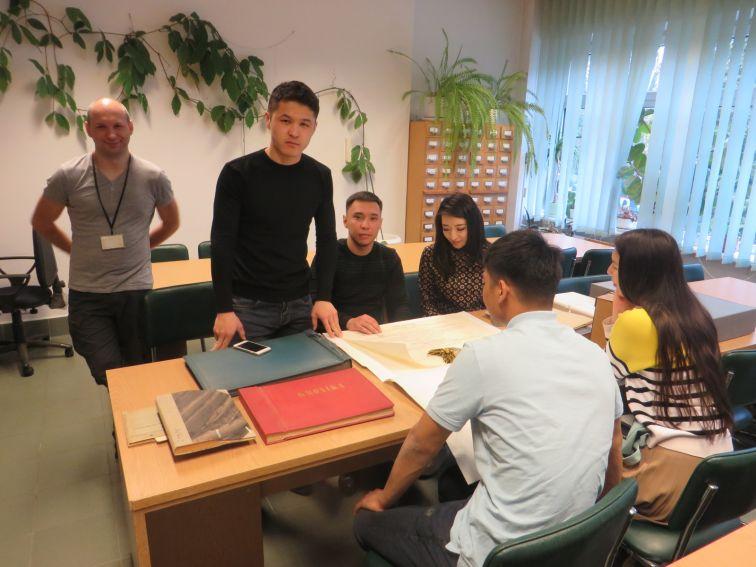 Wizyta studentów z Kazachstanu