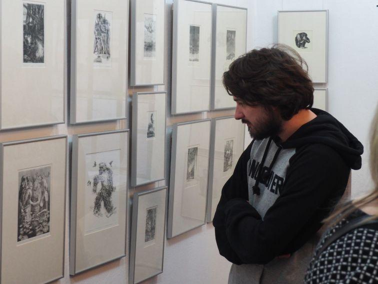 Miedzioryty i rysunki piórkiem Fryderyka Rudzińskiego