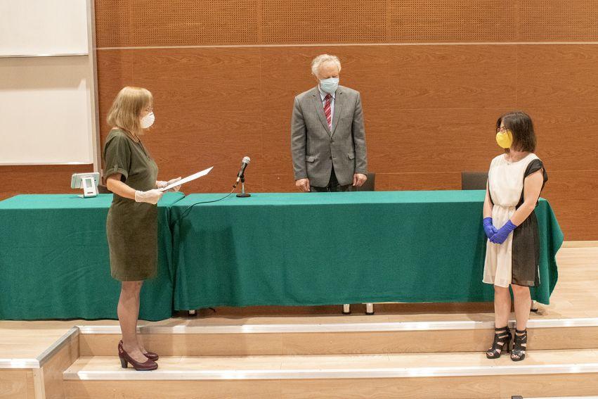 Uroczystość wręczenia dyplomów doktorskich na WFiS
