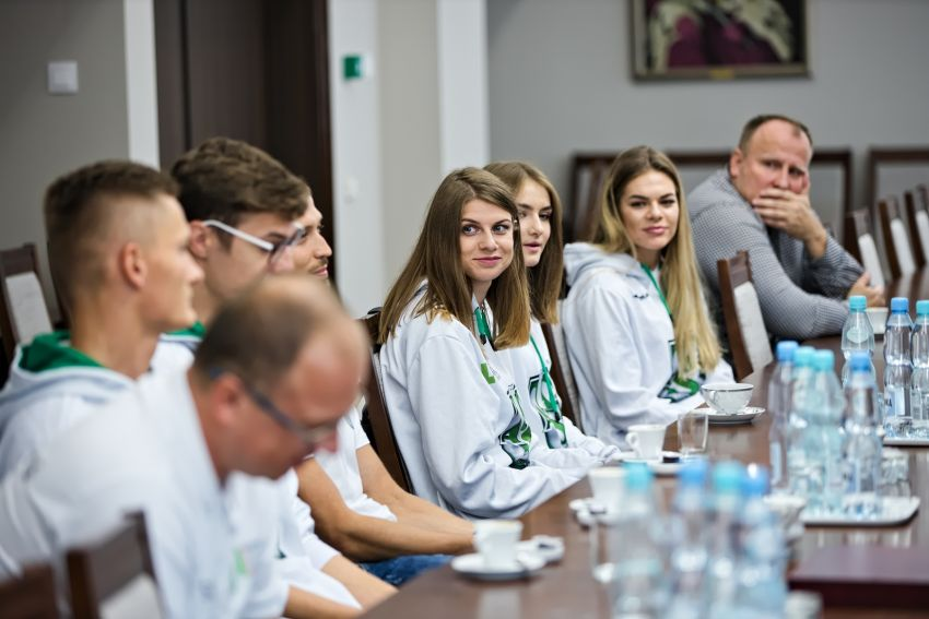 Spotkanie JM Rektora UMCS z lekkoatletami AZS UMCS
