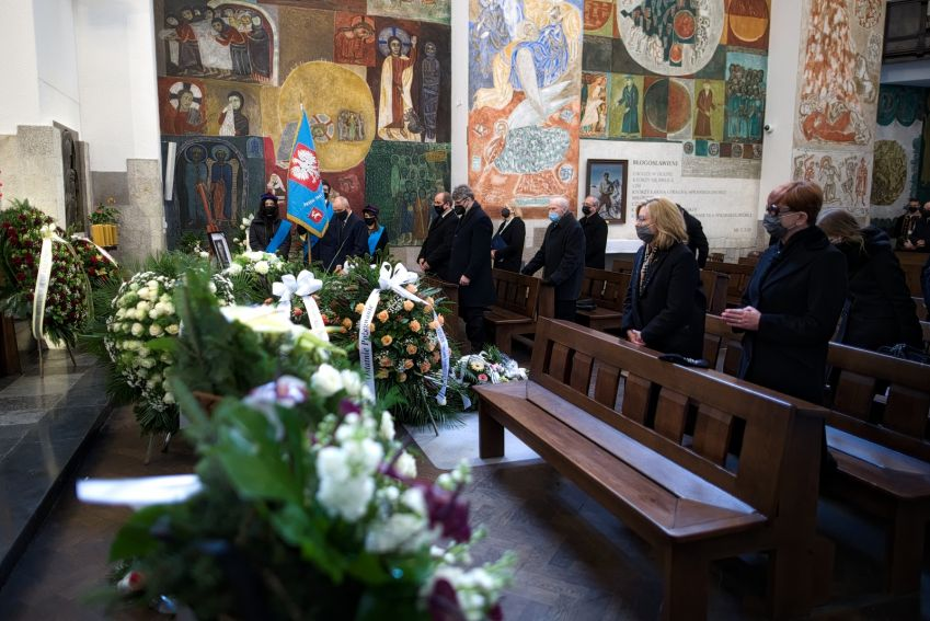 Uroczystości pogrzebowe śp. prof. Wiesława Skrzydły