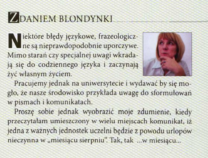 """Z archiwum """"Wiadomości Uniwersyteckich"""""""