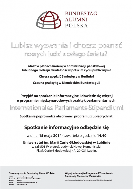 Zaproszenie Na Spotkanie Dotyczące Programu Internationales